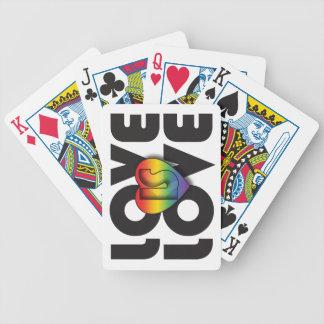 """El """"amor es corazón del arco iris del amor"""" baraja cartas de poker"""