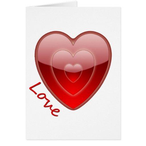 El amor es corazón tarjeta de felicitación