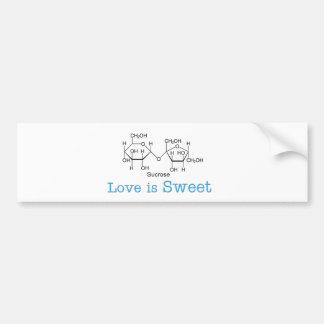 El amor es dulce pegatina para auto