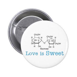 El amor es dulce pin redondo 5 cm