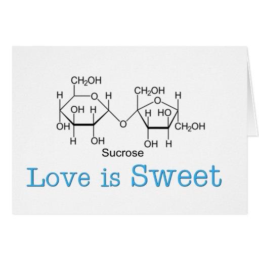 El amor es dulce tarjeta de felicitación