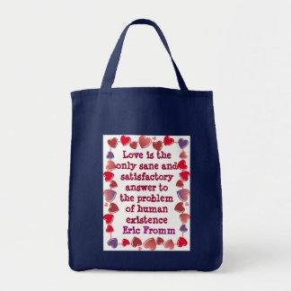 El amor es el bolso de la respuesta bolsa tela para la compra
