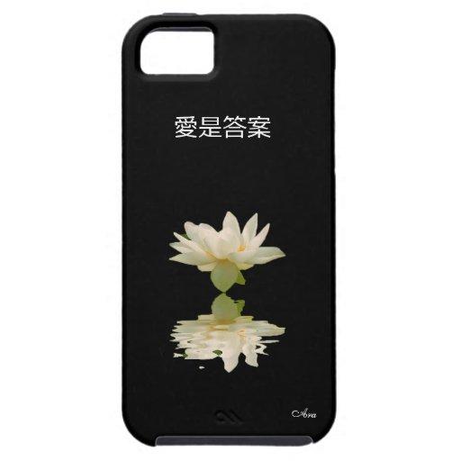 EL AMOR ES EL DISEÑADOR CHINO DEL ARA DE LA ESCRIT iPhone 5 CÁRCASAS