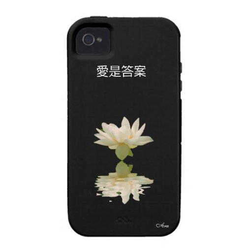 EL AMOR ES EL DISEÑADOR CHINO DEL ARA DE LA ESCRIT VIBE iPhone 4 FUNDA