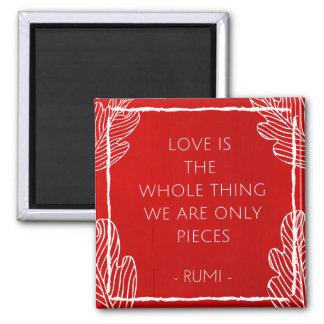 El amor es el imán de la cita del asunto