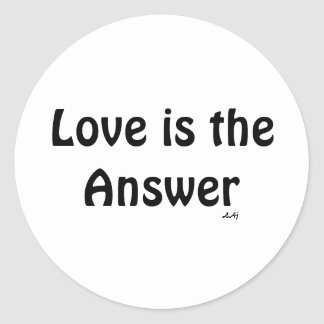 El amor es el negro de la respuesta en el pegatina