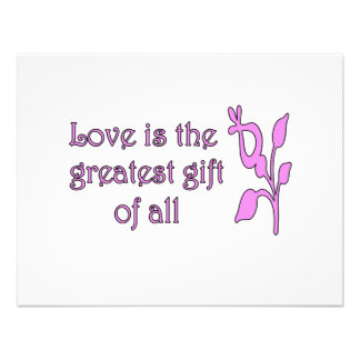 El amor es el regalo más grande invitacion personalizada