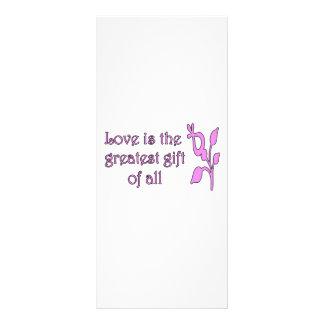 El amor es el regalo más grande lona publicitaria
