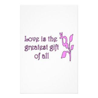 El amor es el regalo más grande papeleria