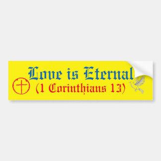 El amor es eterno pegatina para auto