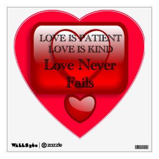 El amor es etiqueta paciente de la pared vinilo adhesivo