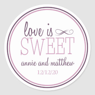 El amor es etiquetas dulces ciruelo púrpura la vi