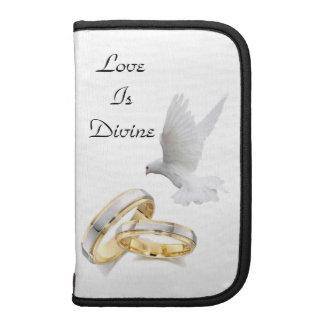 El amor es folio elegante divino del teléfono organizadores