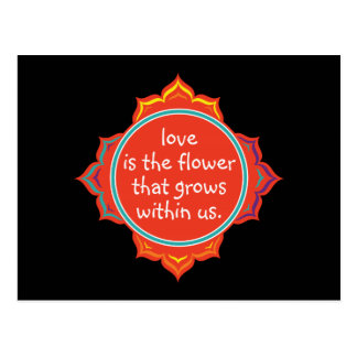 El amor es la flor tarjetas postales
