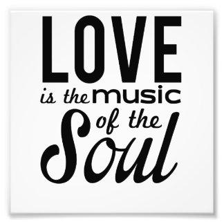 El amor es la música del alma impresiones fotograficas