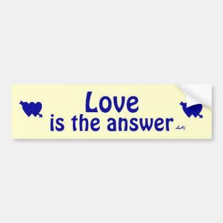 El amor es la pegatina para el parachoques amarill pegatina para auto