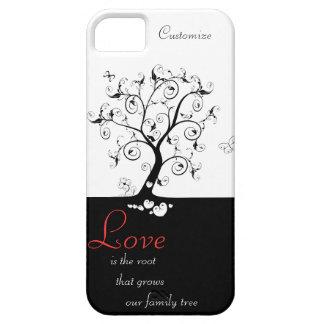 El amor es la raíz iPhone 5 carcasas
