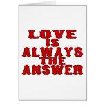 El amor es la respuesta felicitaciones