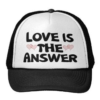 El amor es la respuesta gorros