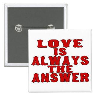 El amor es la respuesta pin