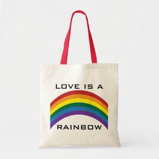 El amor es las bolsas de asas de un arco iris