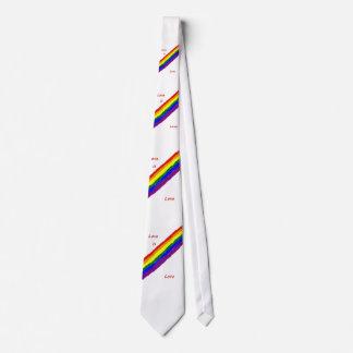 El amor es lazo del amor corbata personalizada