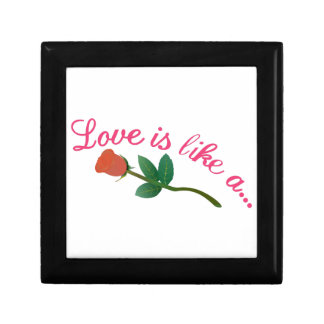 El amor es Lika A Joyero Cuadrado Pequeño
