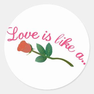 El amor es Lika A Pegatina Redonda