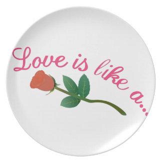 El amor es Lika A Plato De Cena
