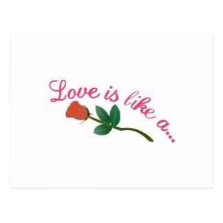 El amor es Lika A Tarjetas Postales