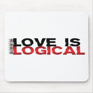 El amor es lógico tapete de raton