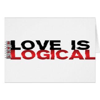 El amor es lógico felicitacion
