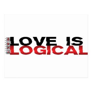 El amor es lógico tarjeta postal