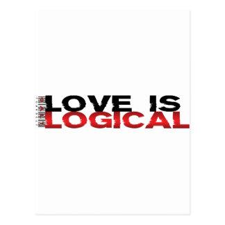 El amor es lógico tarjetas postales