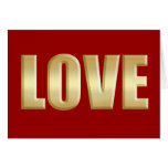 El amor es logotipo de oro del amor felicitacion