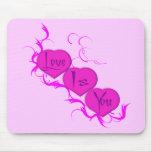 El amor es (los corazones rosados) usted Mousepad Tapete De Ratón