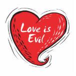 el amor es malvado escultura fotografica