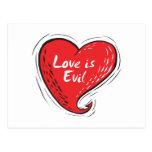 el amor es malvado postales