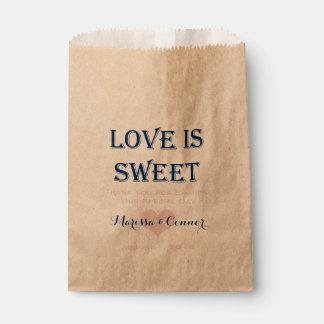 El amor es marina de guerra dulce y bolsos rosados bolsa de papel