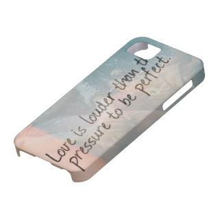 El amor es más ruidoso iPhone 5 cárcasa