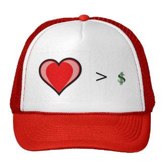 El amor es mayor que avaricia gorras