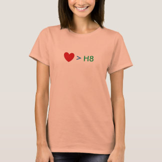 El amor es mayor que H8 Playera