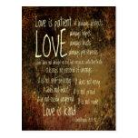 El amor es mezcla paciente tarjetas postales