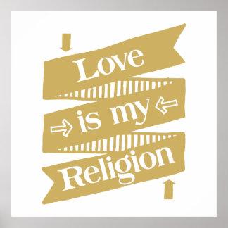 El amor es mi religión poster