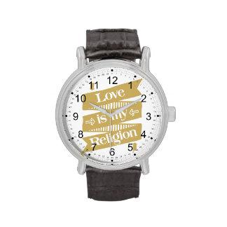 El amor es mi religión relojes
