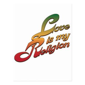 El amor es mi religión postal