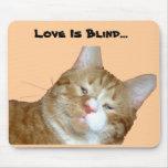 El amor es Mousepad ciego Alfombrillas De Ratón