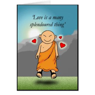 El amor es muchos cosa splendoured tarjeta de felicitación