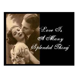 """El """"amor es muchos postal de la cosa espléndida"""""""