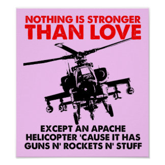 El amor es muestra divertida fuerte del poster póster